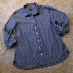 Lucky Brand chambray button up size XL